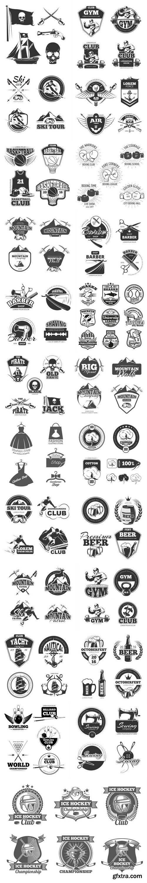 Emblem and logo set 2 - 23xEPS