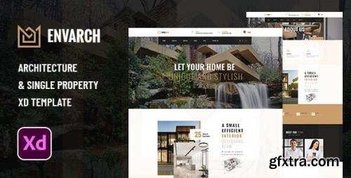 ThemeForest - EnvArch v1.0 - Architecture and Single Property XD Template - 29594175