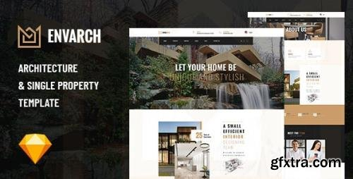 ThemeForest - EnvArch v1.0 - Architecture and Single Property Sketch Template - 29603720