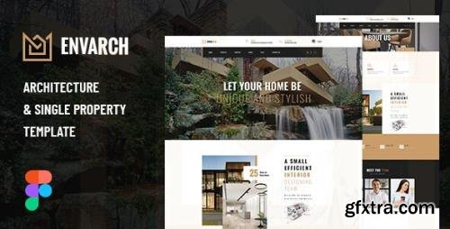 ThemeForest - EnvArch v1.0 - Architecture and Single Property Figma Template - 29603698