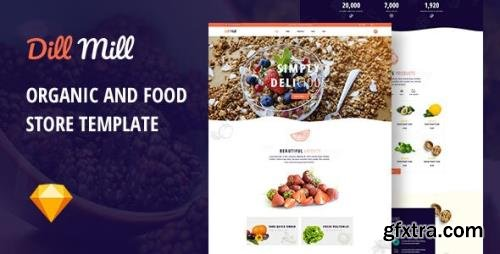 ThemeForest - Dillmill v1.0 - Organic and Food Store Sketch Template - 29603827