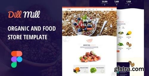 ThemeForest - Dillmill v1.0 - Organic and Food Store Figma Template - 29603870