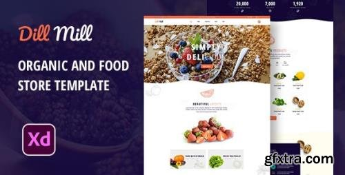 ThemeForest - Dillmill v1.0 - Organic and Food Store XD Template - 29603901