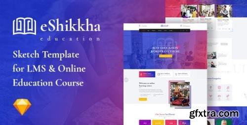 ThemeForest - eShikkha v1.0 - LMS and Online Education Sketch Template - 29795528