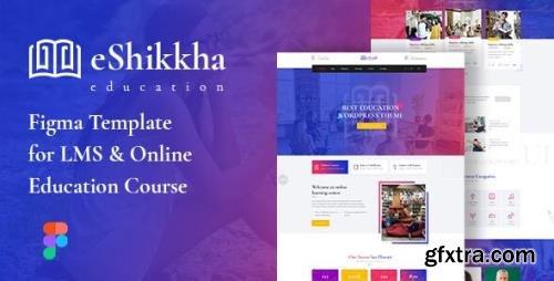 ThemeForest - eShikkha v1.0 - LMS and Online Education Figma Template - 29795525