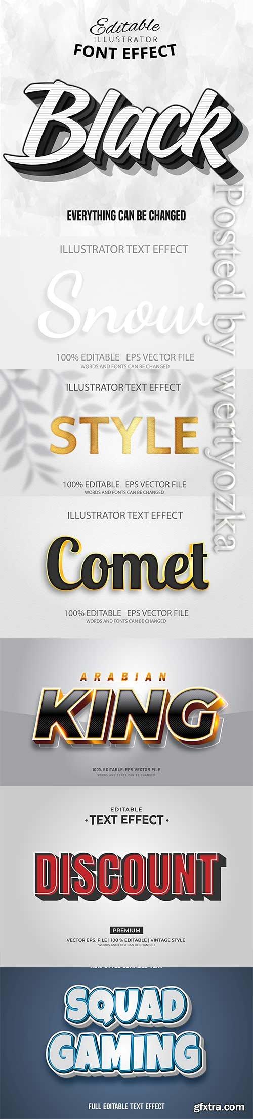 3d editable text style effect vector vol 255