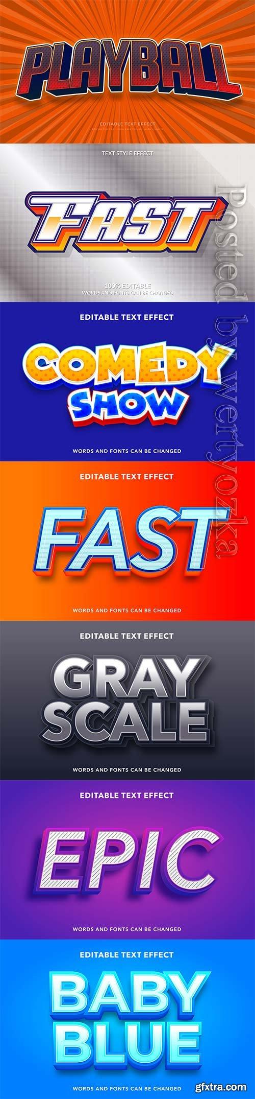 3d editable text style effect vector vol 248
