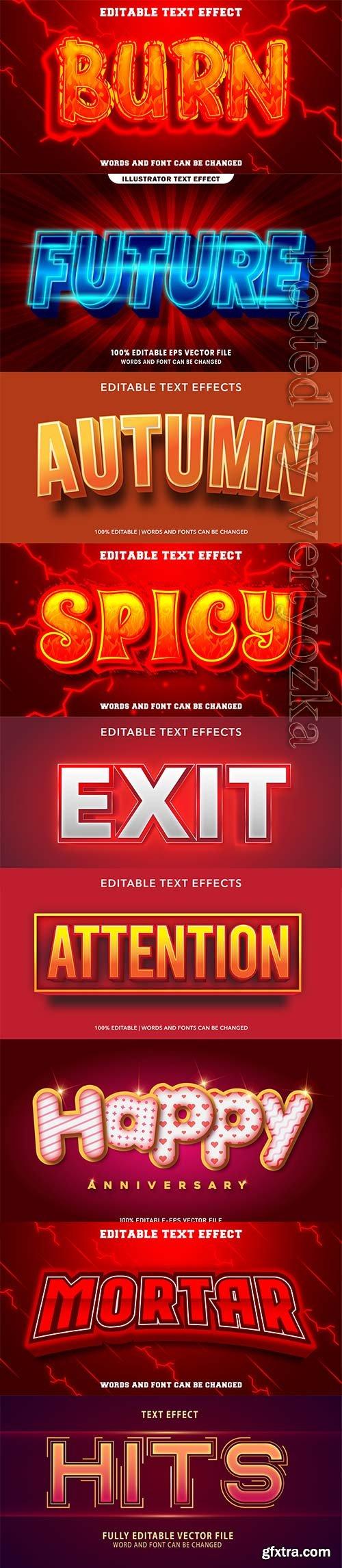 3d editable text style effect vector vol 246