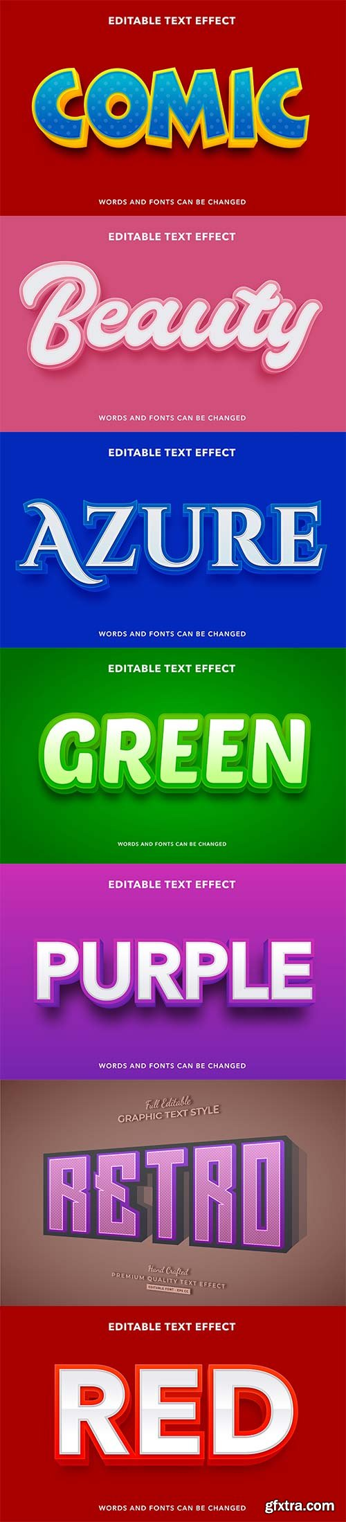 3d editable text style effect vector vol 247