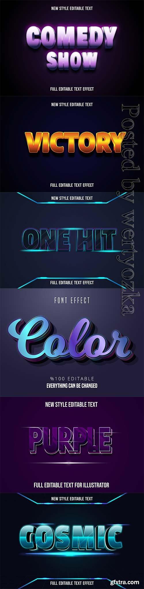 3d editable text style effect vector vol 241