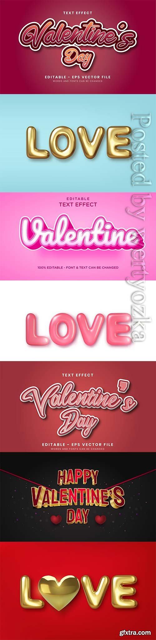 3d editable text style effect vector vol 244