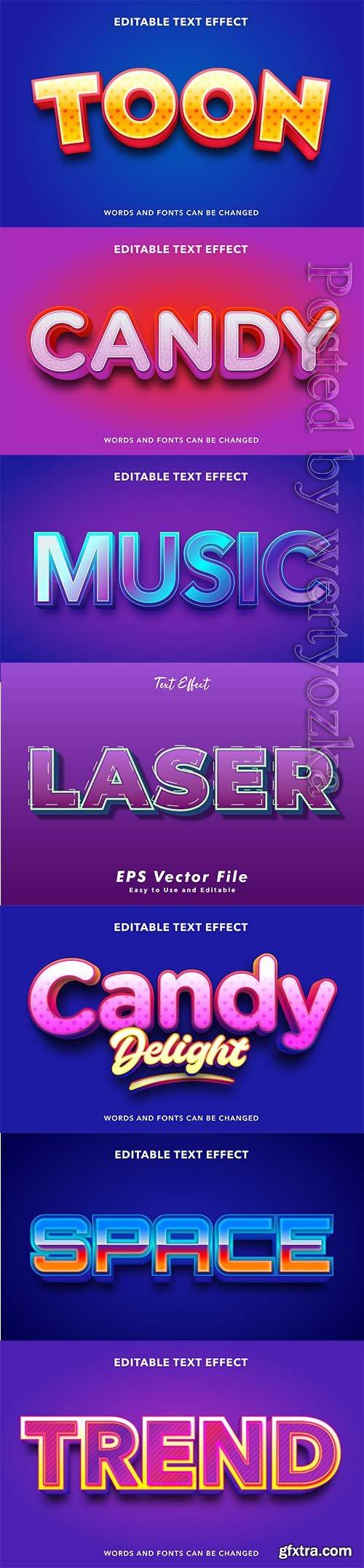 3d editable text style effect vector vol 249