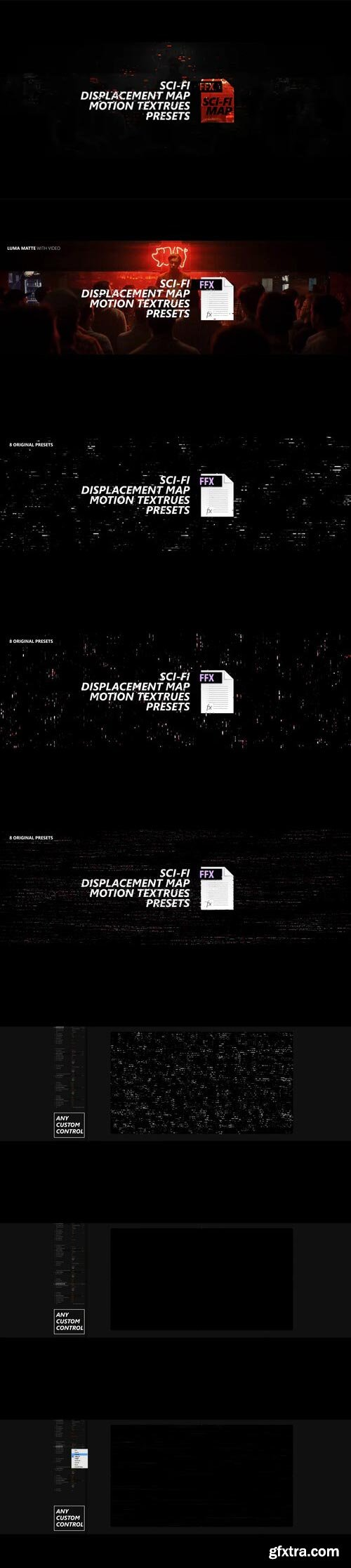 Videohive - Sci-fi Displacement Map Motion Textrues Presets - 27187546