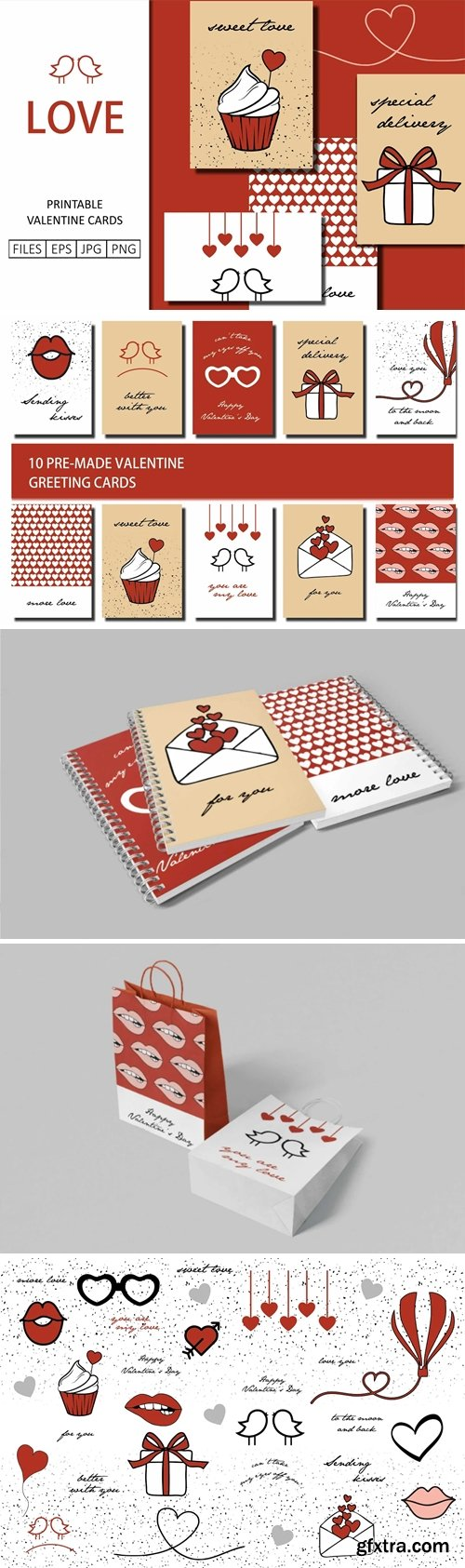 CreativeMarket - Valentine\'s Day Greeting Cards 5783317