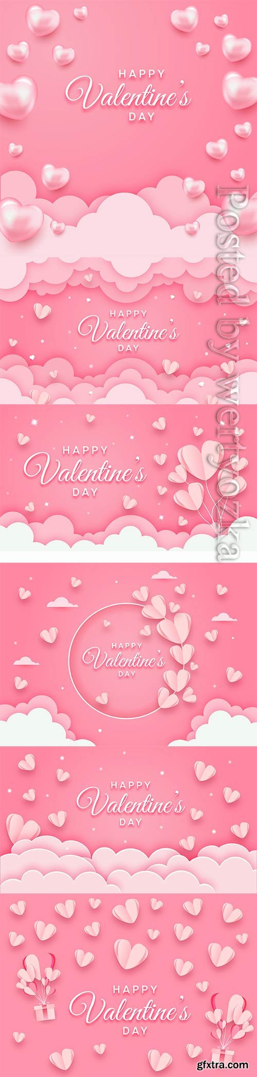 Happy valentines day concept in paper
