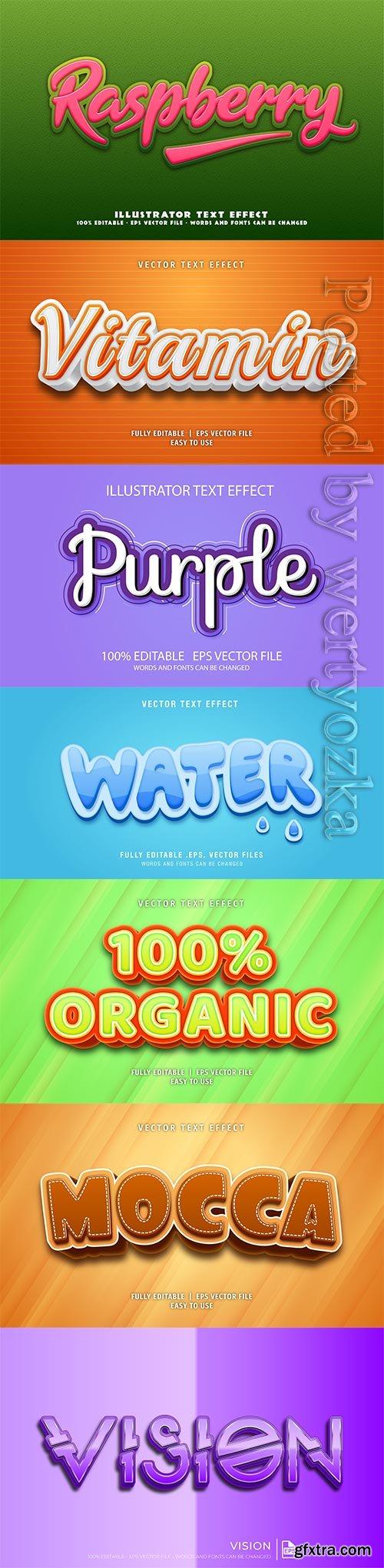 3d editable text style effect vector vol 265