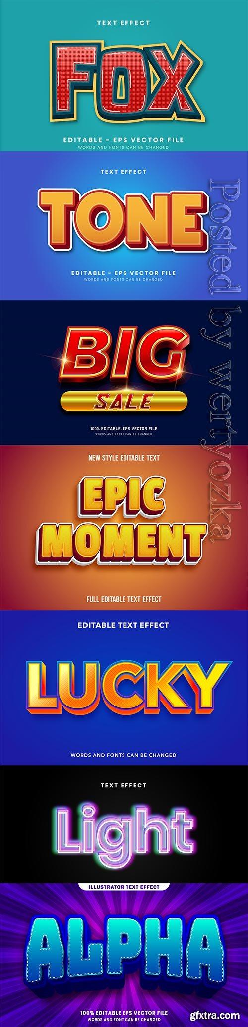 3d editable text style effect vector vol 263