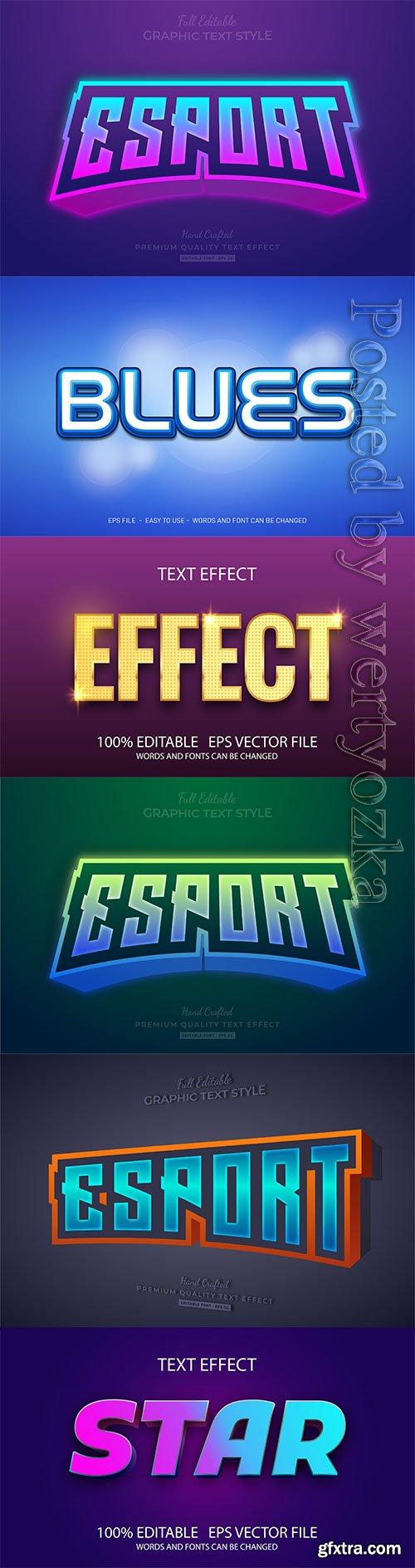 3d editable text style effect vector vol 257