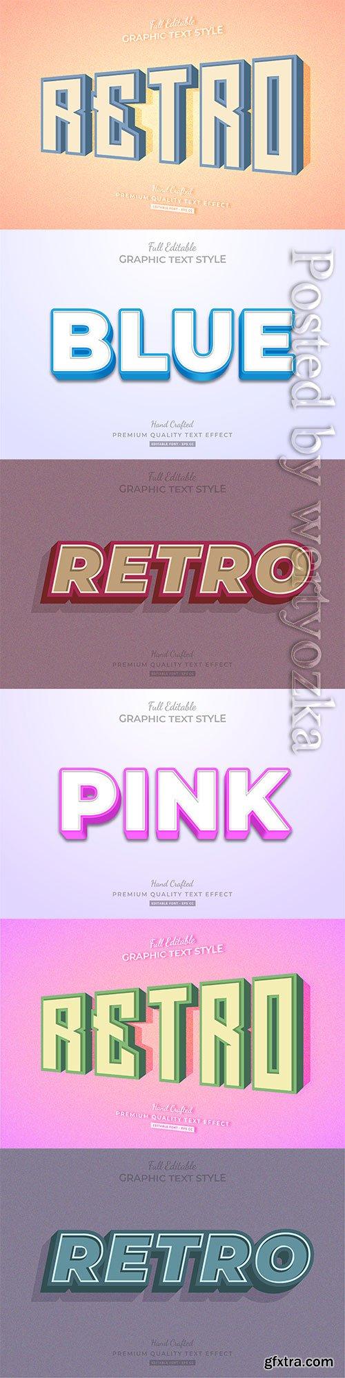 3d editable text style effect vector vol 259