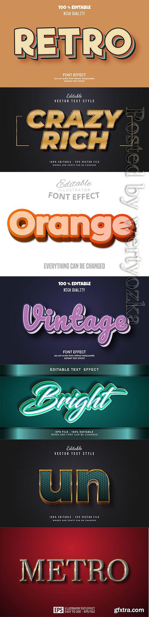3d editable text style effect vector vol 262
