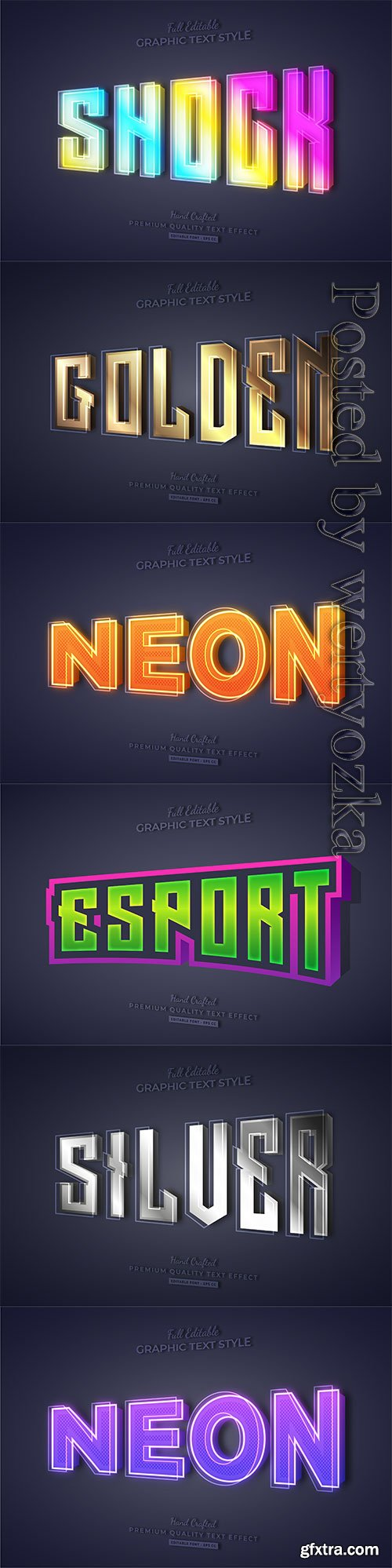 3d editable text style effect vector vol 258