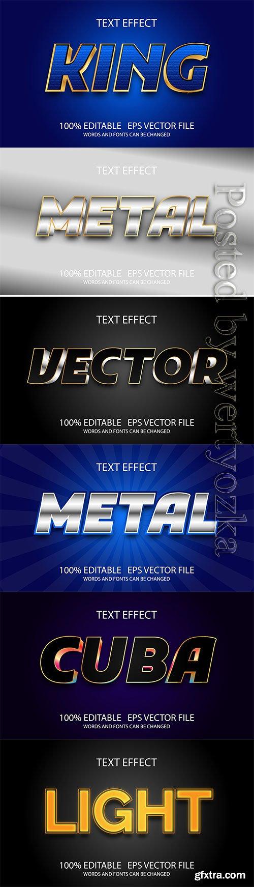 3d editable text style effect vector vol 256
