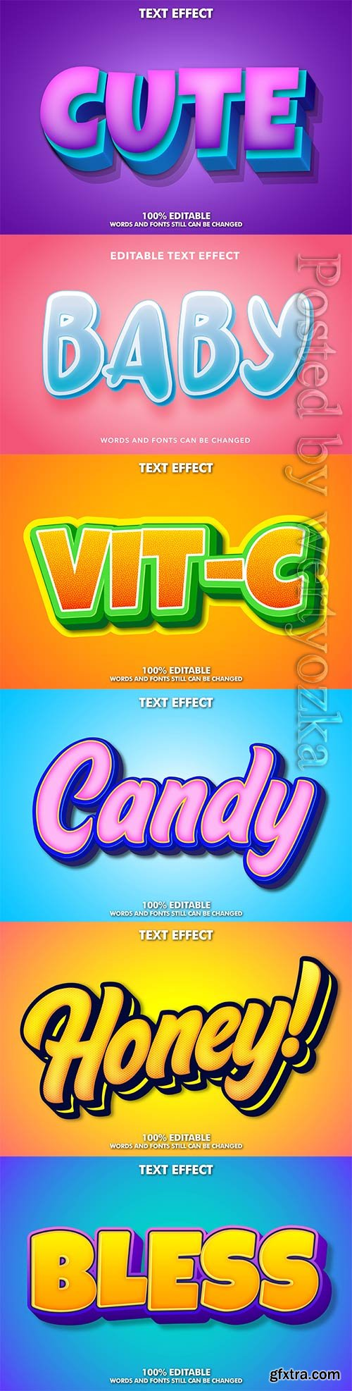 3d editable text style effect vector vol 275