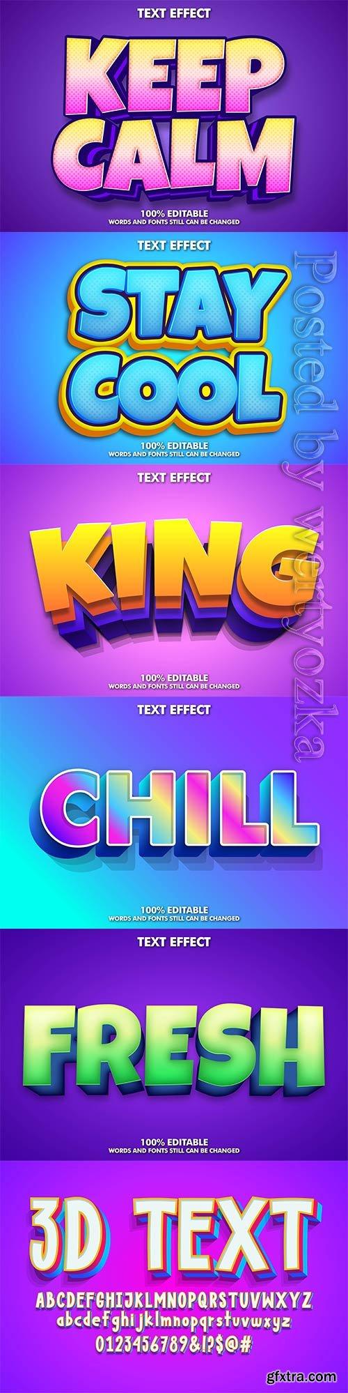 3d editable text style effect vector vol 271