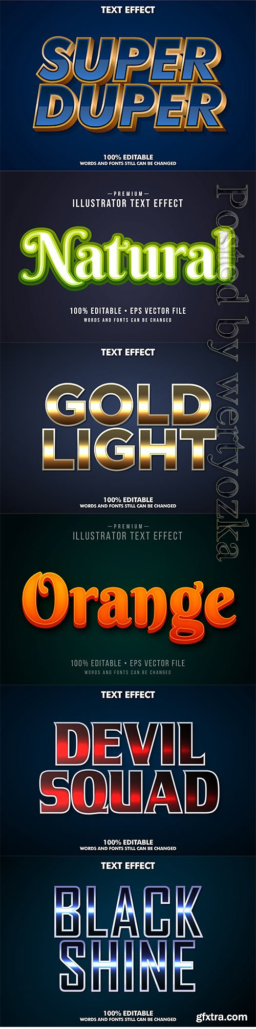 3d editable text style effect vector vol 269