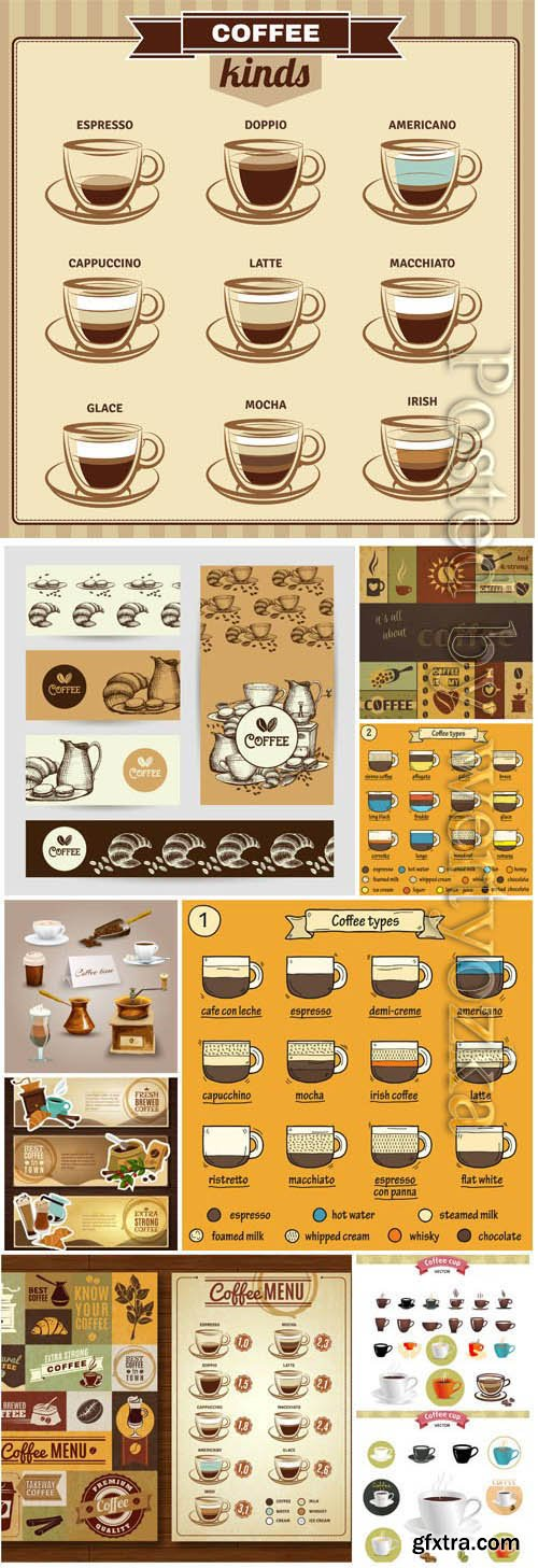 Coffee menu in vector