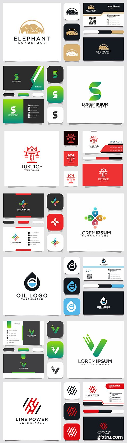 Company logo, badge and business card design