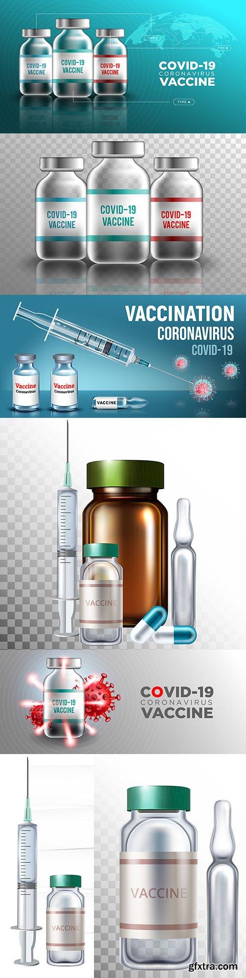 Vaccination against coronavirus covid-19 design banner