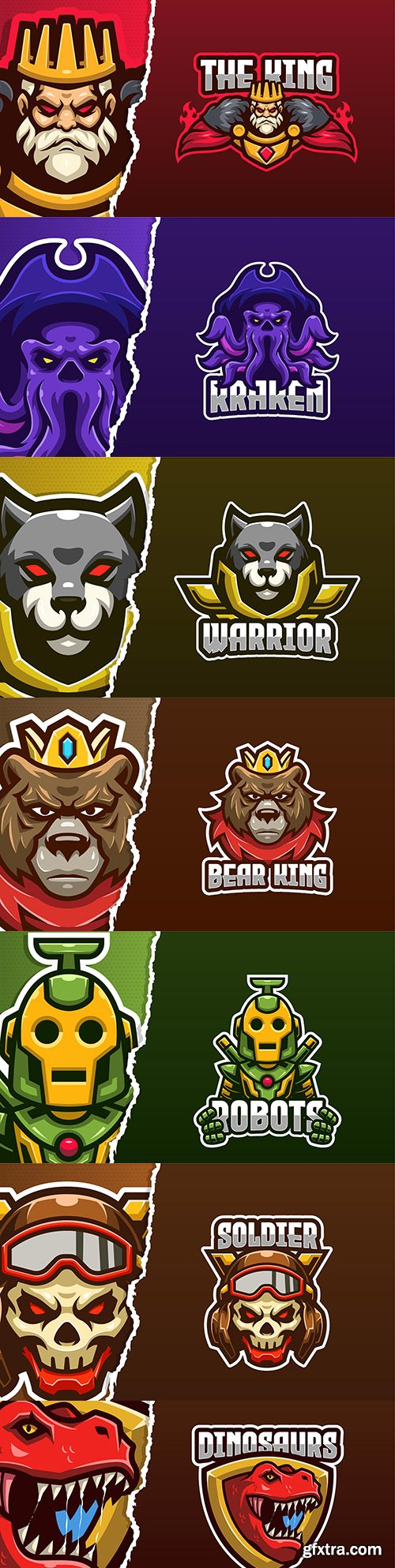 Logo template eSports and emblem mascot design 2