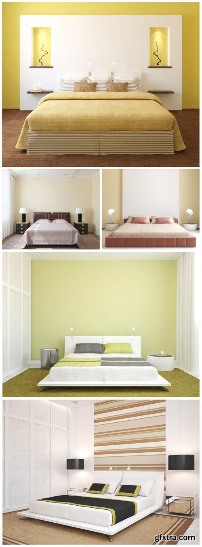 Modern stylish interior stock photo