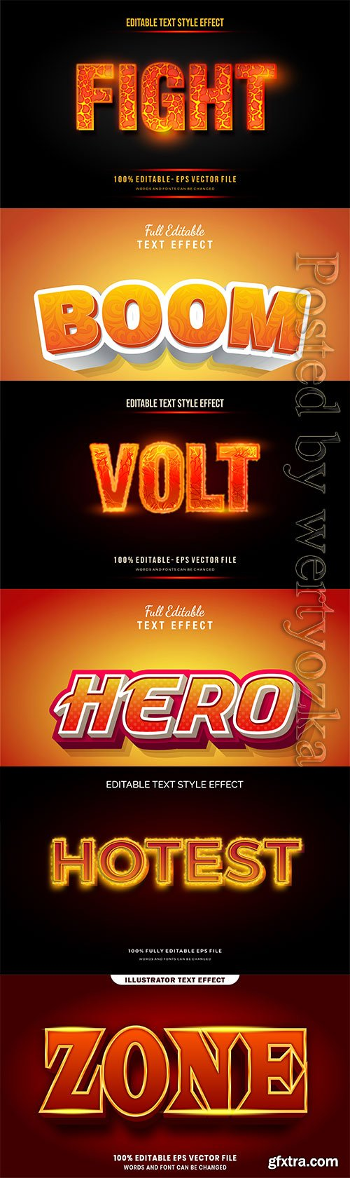 3d editable text style effect vector vol 285