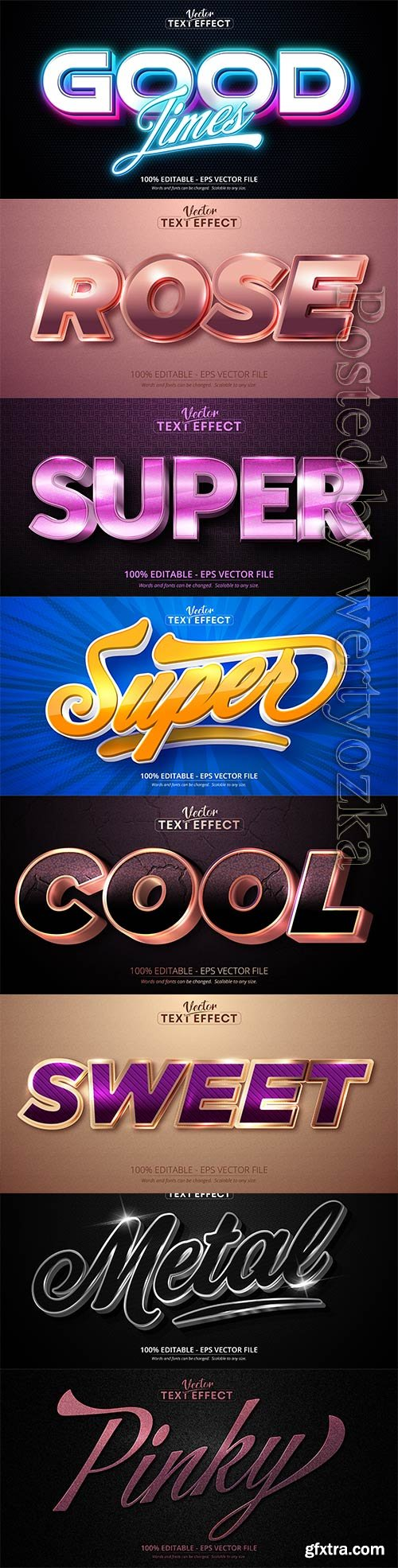 3d editable text style effect vector vol 287