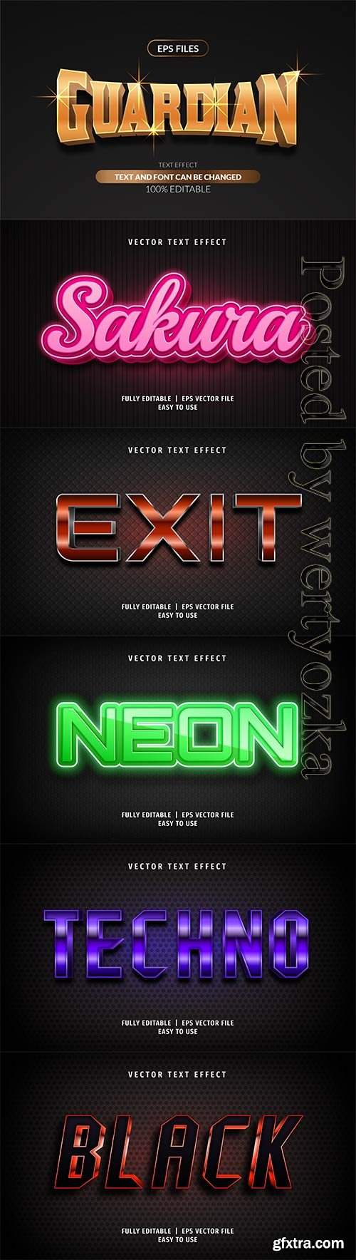 3d editable text style effect vector vol 288