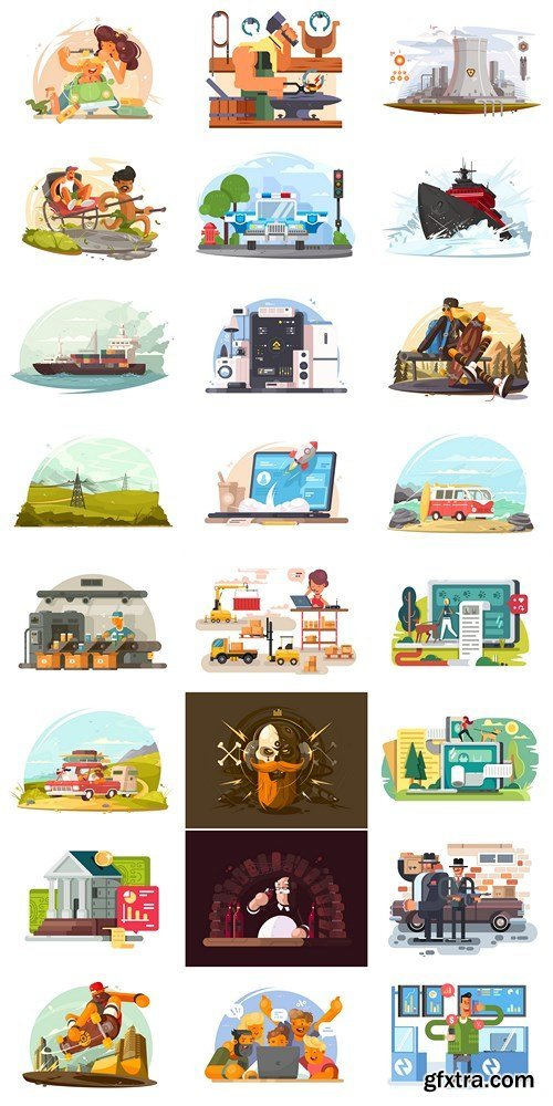 Vector Images Set - 24xEPS