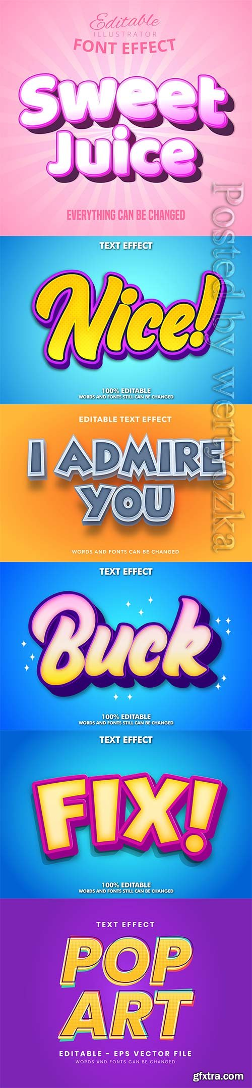 3d editable text style effect vector vol 296