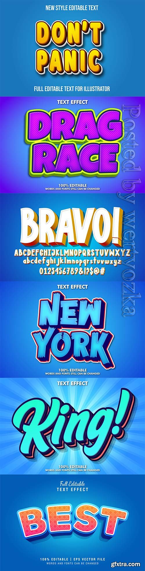 3d editable text style effect vector vol 294