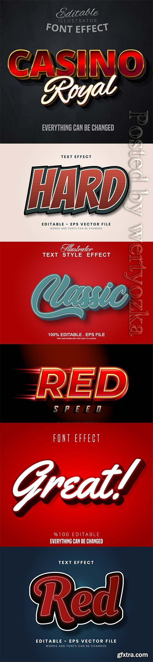 3d editable text style effect vector vol 297