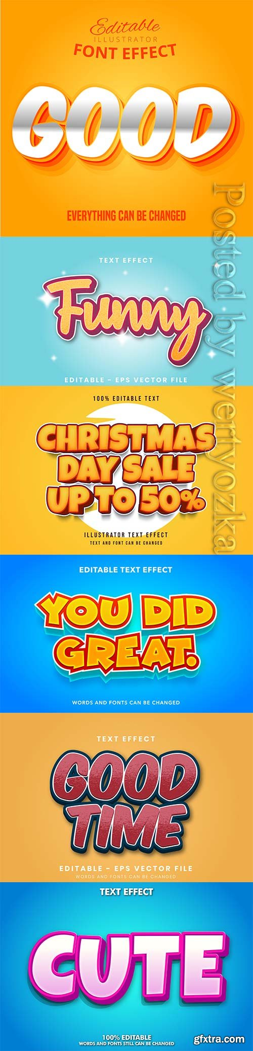 3d editable text style effect vector vol 300