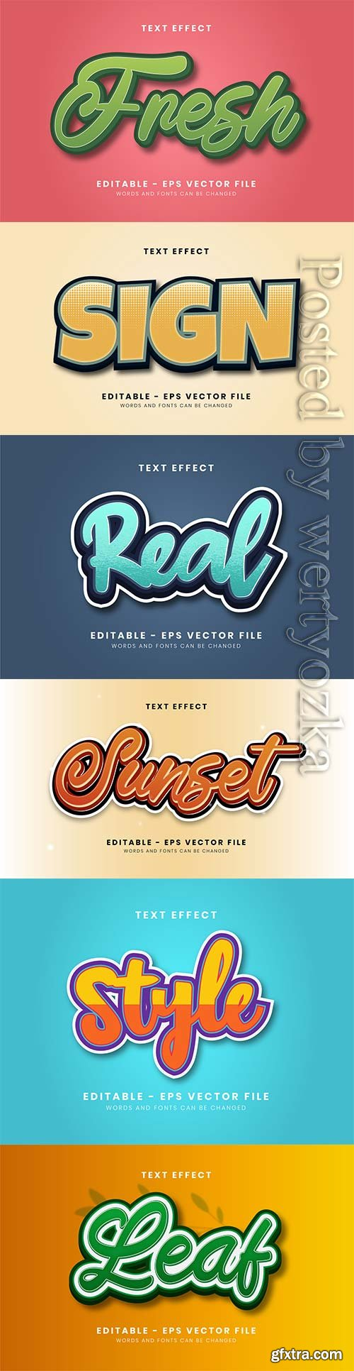 3d editable text style effect vector vol 295
