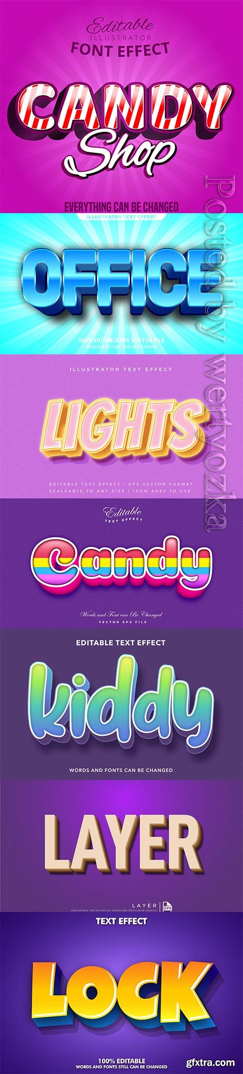 3d editable text style effect vector vol 312