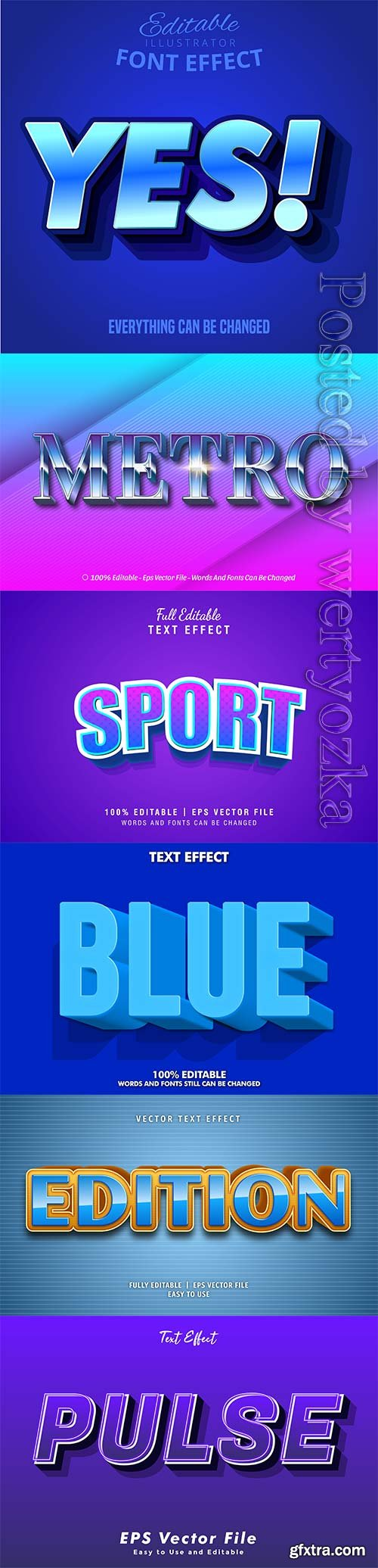 3d editable text style effect vector vol 309