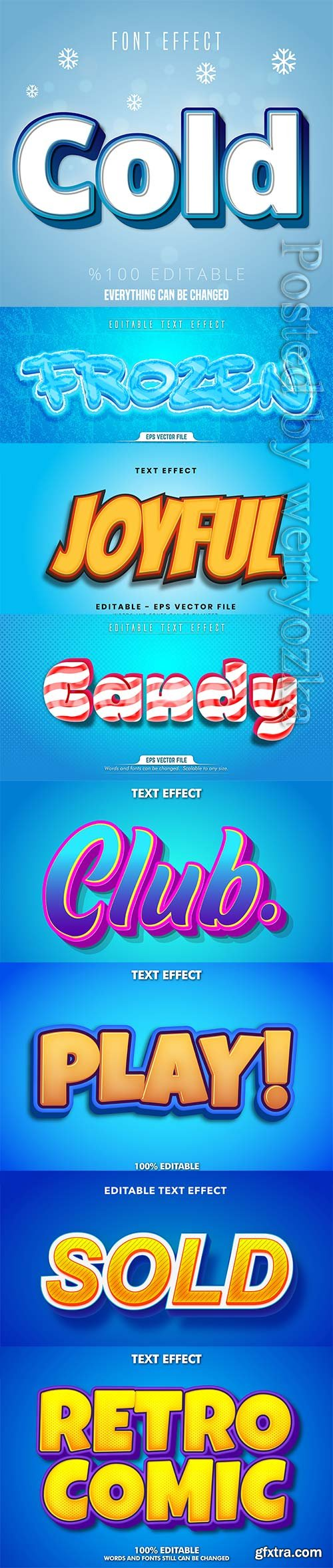 3d editable text style effect vector vol 310