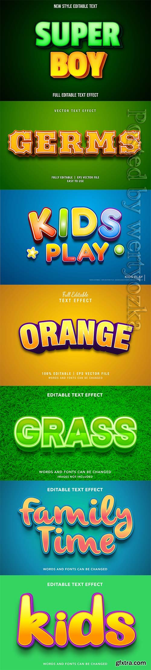 3d editable text style effect vector vol 311