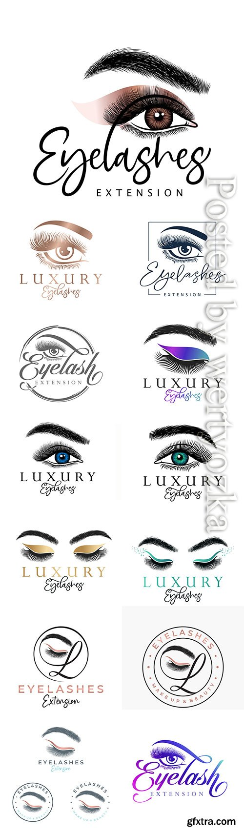 Luxury beauty eyelash logo design