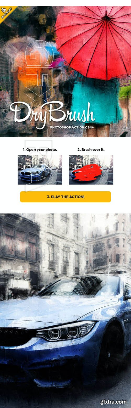 GraphicRiver - Dry Brush CS6+ Photoshop Action 30290963