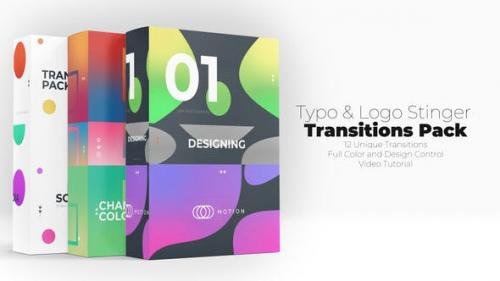 Videohive - Typo & Logo Stinger Transitions Pack